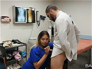 doc and nurse Blair Williams ravage in hospital