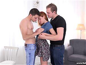 Sell Your girlfriend - pummeled on her boyfriend's lap