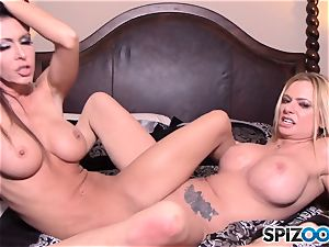 Briana Banks and Jessica Jaymes live web cam demonstrate