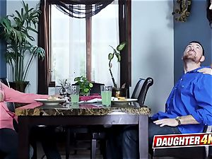 daughters-in-law decide to take care of daddies by feeding their fuck-sticks