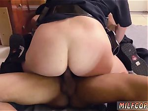 Russian milf buttfuck and blonde inexperienced fluid pie dark-hued male squatting in home gets our