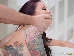 humble hubby sees his wife Monique Alexander get ass-fucked