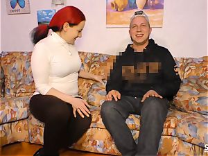 SEXTAPE GERMANY - redhead German newbie screws on web cam