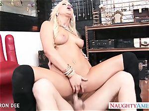 erotic Cameron Dee take schlong