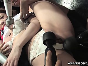submissive doll Aoi Yuuki got her jugs and fuckbox toyed