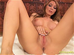 huge-chested stepmom alone at home