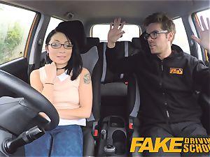 fake Driving college nasty ride for smallish british chinese