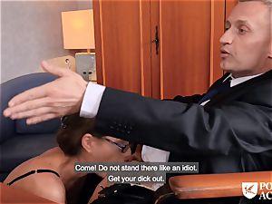 porn ACADEMIE - british Tina Kay torrid anal invasion in threeway