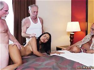 aged stud youthfull slut Staycation with a latin sweetheart