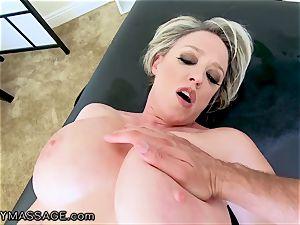 FantasyMassage mummy Dee Williams pov spray massage
