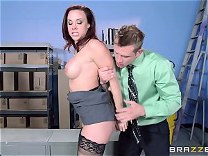 Chanel Preston pokes her uber-sexy dude at work