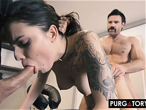 PURGATORY I let my wife pulverize 2 men in front of me