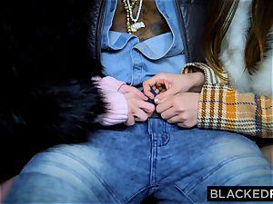 BLACKEDRAW 2 cuties smash thick bbc On Bus!