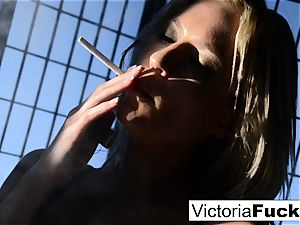 Victoria white luvs to display off
