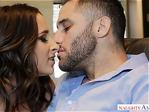 Married Ashley Adams craves man-meat deep in her cooter