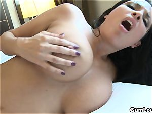 Anissa Kate demonstrating her thick innate melons in Public