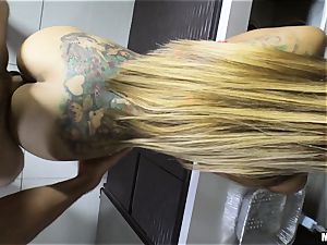 Yurizan Beltran bashed stiff after caught with the cropped splooge and dancing