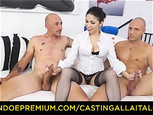 audition ALLA ITALIANA - scorching cougar has double rectal fun