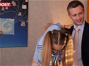 LETSDOEIT - French schoolgirl poked Until She splashes