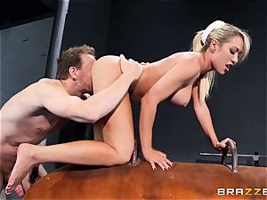 Capri Cavanni ends her exercise with some ginormous man-meat