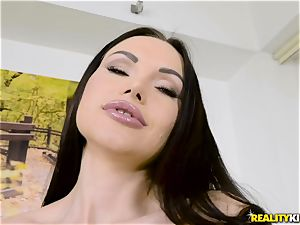 Digging trunk deep into nasty honey Sasha Rose