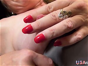 USAwives granny Carmen Solo toys getting off