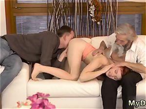 very first elder guy unexpected practice with an elderly gent