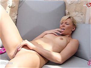 MyDirtyHobby - steaming light-haired wanking outdoor!