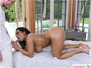 Exotic figure rubdown with big-chested Indian sweetheart Priya Price