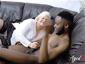 AgedLovE Lacey Starr gets multiracial hardcore