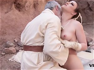 elderly Ben uses the sexual energy with a steaming sub damsel
