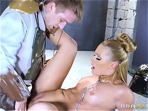 Abby Cross stuffed in her humid fuckbox