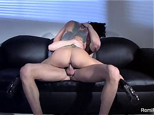 stunning Romi Rain taunts and then gets humped hard