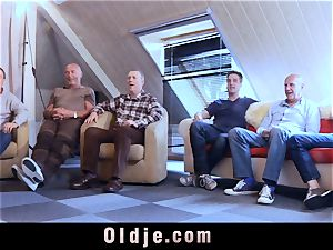 six oldman fucking in group a sexy super-steamy blond