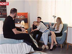 LETSDOEIT - ultra-kinky blonde Gets Gelp To jizm From couple