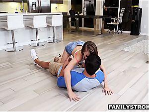 Jillian Janson pummeling her warm nephew