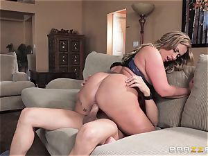Eva Notty craves additional jizm topping from pizza stud