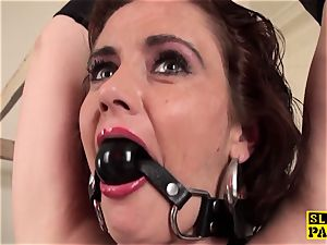 red-haired brit gimp bum-fucked and trussed