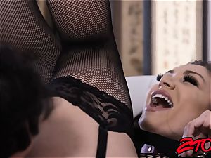 sugary Lea Lexis fed cum after fishnets cowgirl