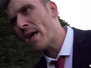 man meat deepthroating Ella Hughes gobbling on strangers spunk-pump