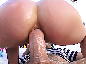 Cherie DeVille gets her taut bung gaped
