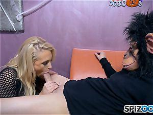magnificent blonde stripper Alix Lynx slammed doggie-style
