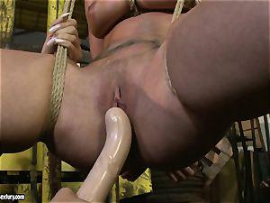 Kathia Nobili and Mandy Bright fuck stick penetrating hard
