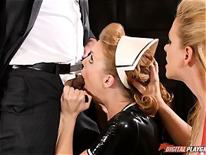 beaver bashing the insatiable hump marionette maid Britney Amber