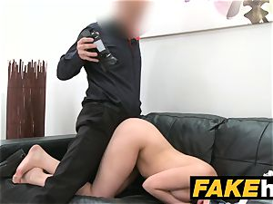 faux Agent harmless gorgeous brunette likes fellating