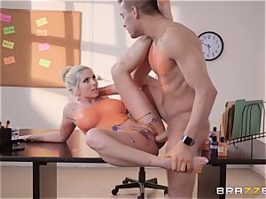 Christie Stevens arched over and boinked doggie-style