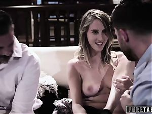 pure TABOO honey Tricked Into revenge threesome with Strangers
