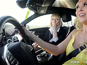 Aaliyah love and Kate England pussy trib and climax