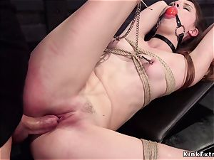 gagged victim nailed in threesome training