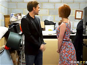 british ginger-haired Ella Hughes gets a good deal on her first car